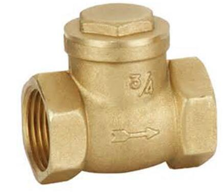 1 inch brass Y angle swing check valve